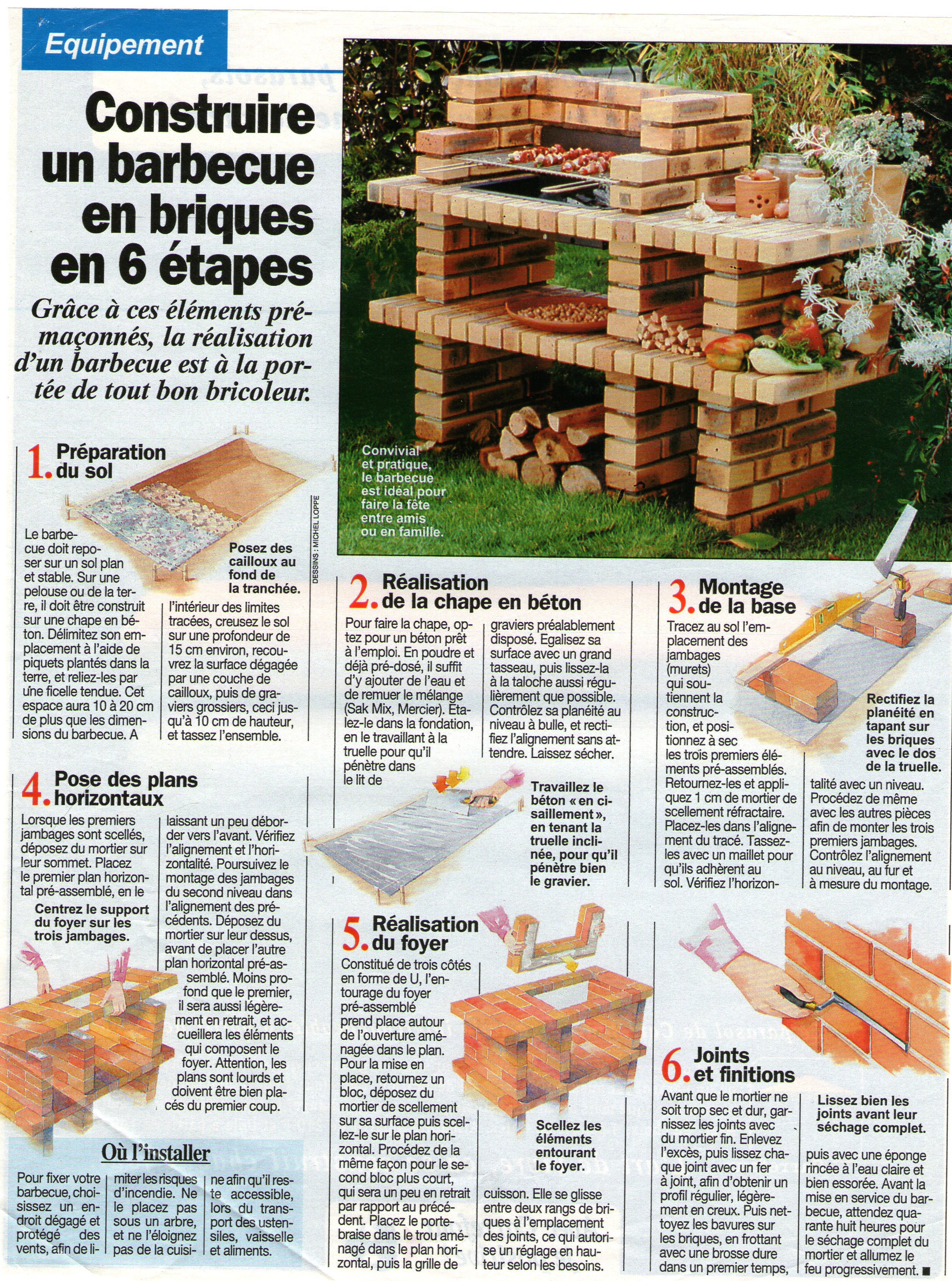 construire un barbecue en briques en 6 tapes trucs et conseils colos. Black Bedroom Furniture Sets. Home Design Ideas